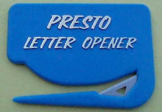 Presto Letter Opener - Blue