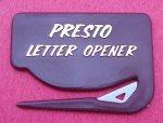 Presto Letter Opener - Maroon